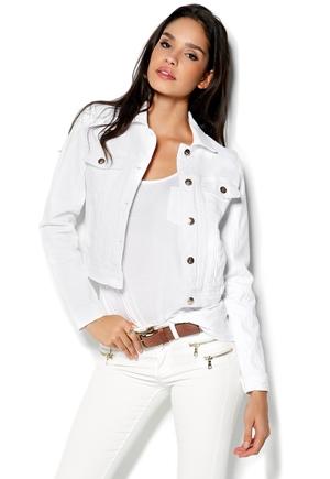 vit jeansjacka