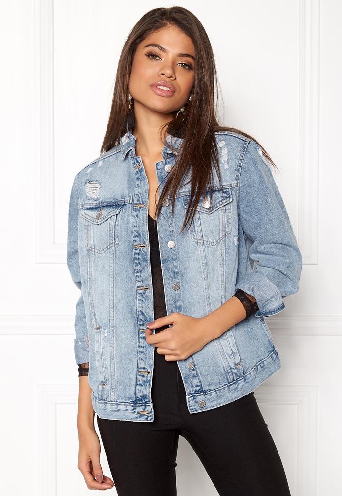Blå jeansjacka stor modell
